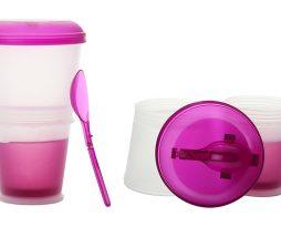Vaso térmico para yogur y cereales de desayuno