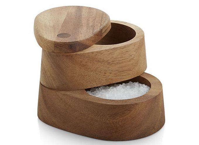 Salero doble de madera gastronom a c a for Saleros de cocina