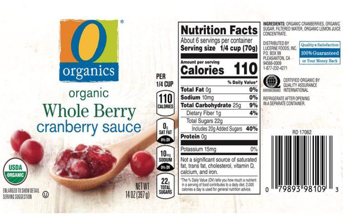 Rtiqueta con información de los azúcares añadidos