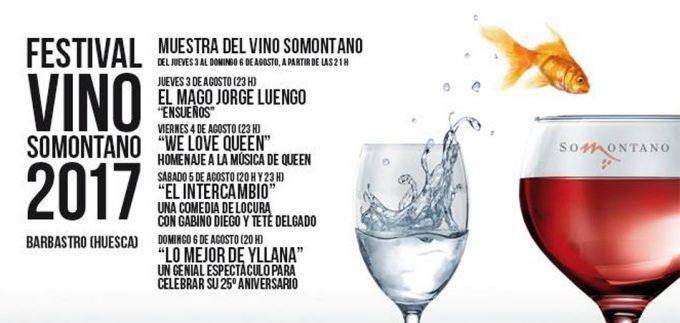Festival Vino Somontano 2017. Programa