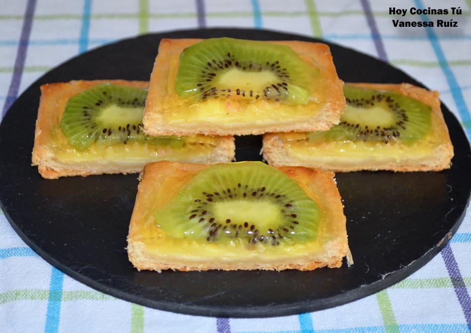 Hoy cocinas t hojaldre con natillas y kiwi gastronom a - Cocina y cia ...