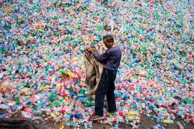 Reciclaje de las botellas de plástico