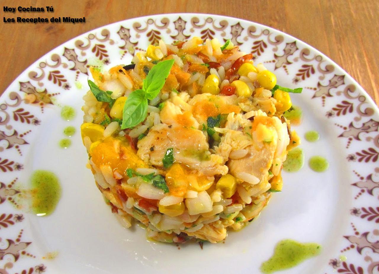 Hoy cocinas t ensalada de arroz con verduras y pollo - Ensalada de arroz light ...