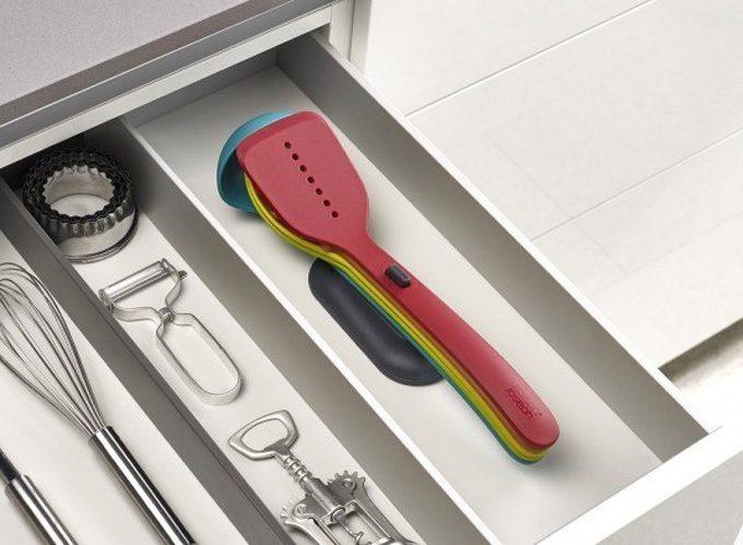 Juego de utensilios compacto de joseph joseph for Cucharones de cocina