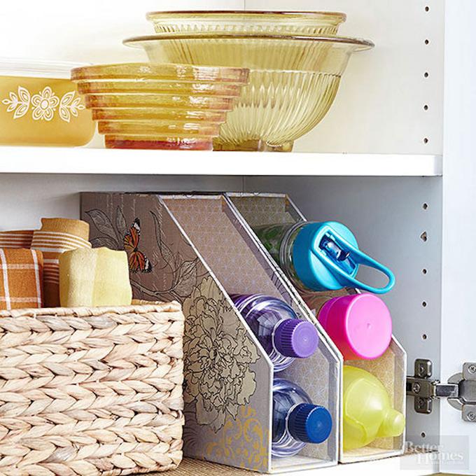 Utilidades de un archivador o un revistero en la cocina