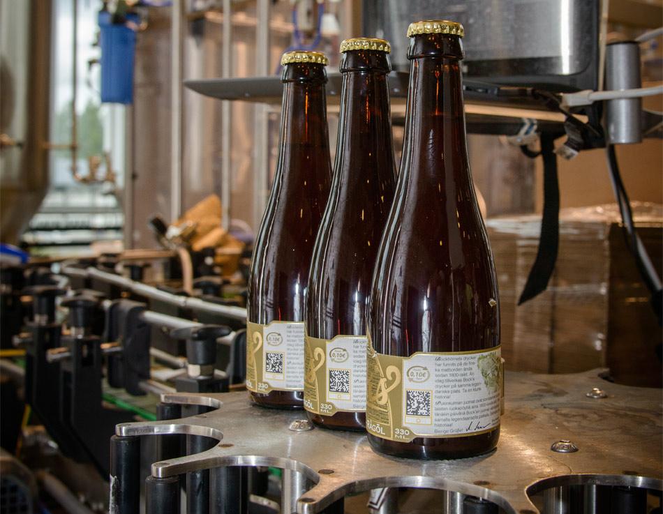 Cervezas digitales, cervezas con etiquetas con tintas funcionales y sensores inteligentes