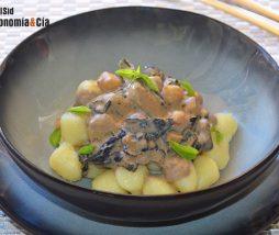 Ñoquis con salsa cremosa