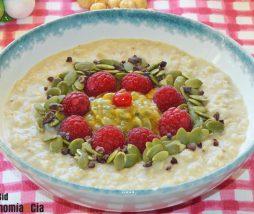 Desayuno saludable. Receta