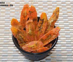 Zanahoria crujiente en microondas