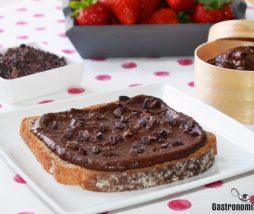 Crema de cacao y fríjoles negros