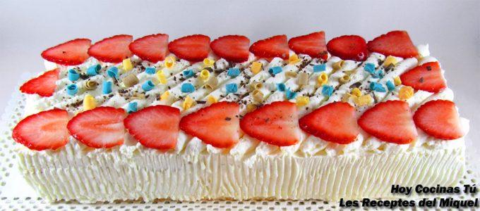 Receta de pastel de fresas