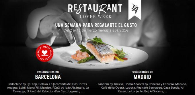 Restaurant Lover Week 2018 en Barcelona y Madrid