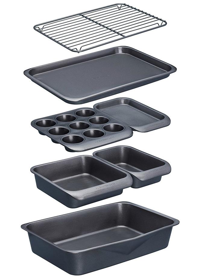 Set de moldes y bandejas para horno apilables