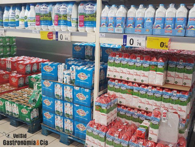 Origen de la leche en el etiquetado