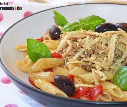 Receta de pasta y tofu