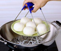 Sostenedor de acero inoxidable para platos