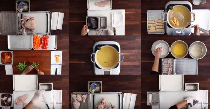 Cómo configurar la mesa de trabajo como un cocinero profesional ...