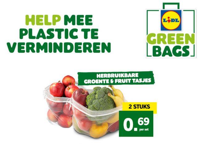 Bolsa verde de Lidl