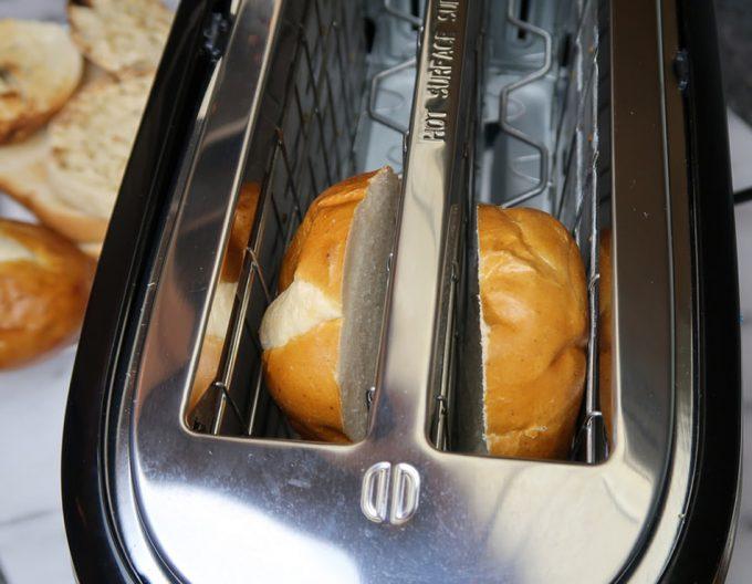 Descongelar el pan en la tostadora