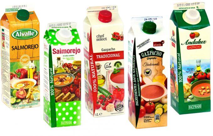 Análisis de la OCU sobre los gazpachos y salmorejos que se pueden comprar en un supermercado