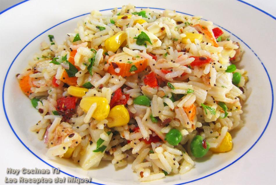 Hoy cocinas t ensalada de arroz basmati y vinagreta de - Ensalada de arroz light ...