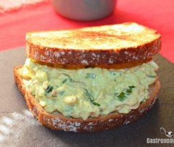 Receta de sándwich rico y sano