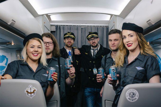 Viajar con BrewDog en un Boeing 767