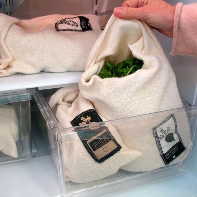 Bolsas de algodón para conservar los vegetales frescos más tiempo