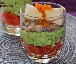 Receta de aperitivo en vaso