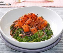 Receta de kale y calabaza