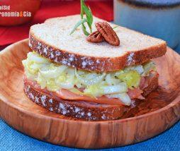 Receta de sándwich de salmón