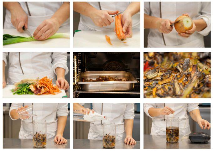 Convertir desperdicios en ingredientes