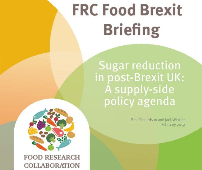 Reformulación de productos con azúcar