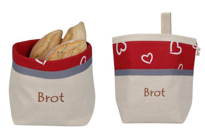 Bolsas de lino y algodón para pan