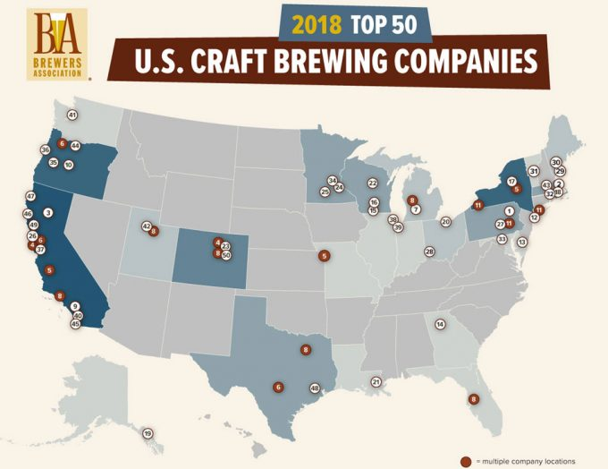 Cerveceras artesanas de Estados Unidos