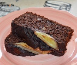 Pan de plátano y chocolate