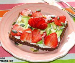 Recetas de tostadas con fresas