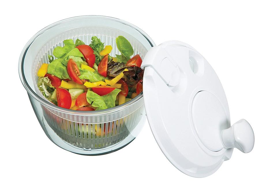 Para qué sirve el agujero de la tapa del centrifugador de vegetales
