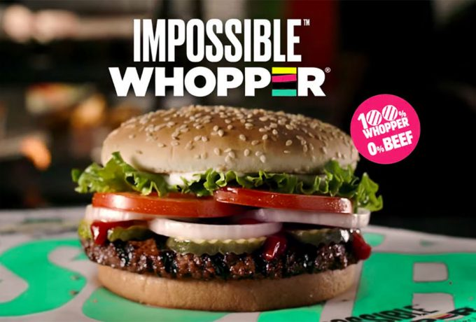 Whopper con la hamburguesa vegetal de Impossible Foods