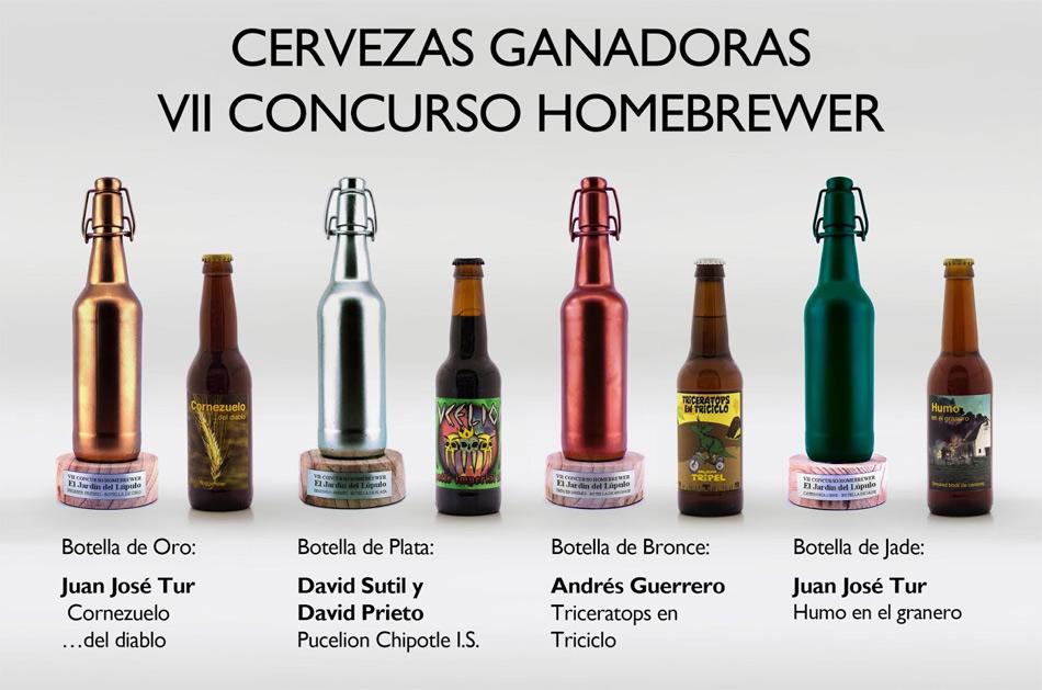 Cervezas ganadoras en el Concurso Homebrewer 2019 de El Jardín del Lúpulo