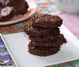 Galletas saludables de chocolate y avena