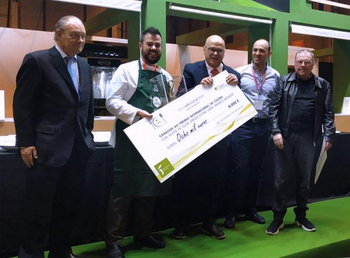 Ganador del Premio Internacional de Cocina con Aceite de Oliva Virgen Extra 'Jaén Paraíso Interior' 2019
