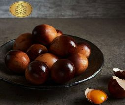 Huevos ahumados mediante un nuevo proceso patentado