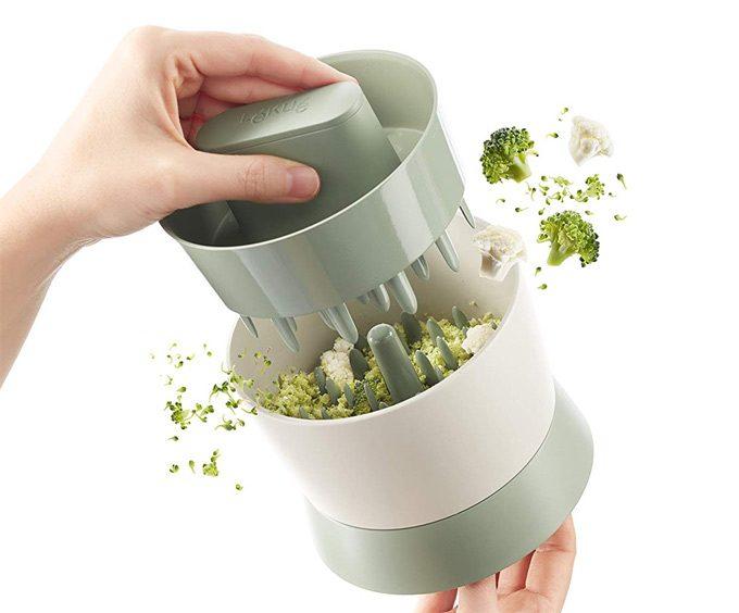 Picar coliflor y brócoli