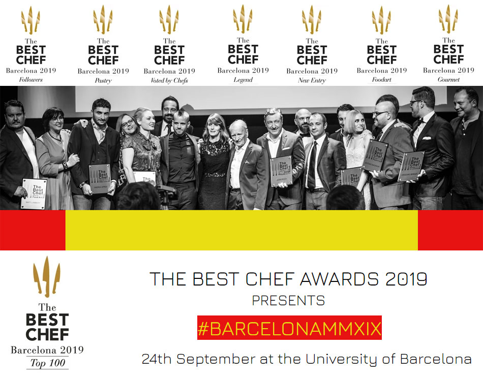 La ceremonia de The Best Chef Awards 2019 se celebra en Barcelona