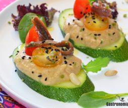 Receta de aperitivo con hummus