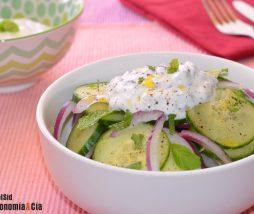 Receta de ensalada de pepino