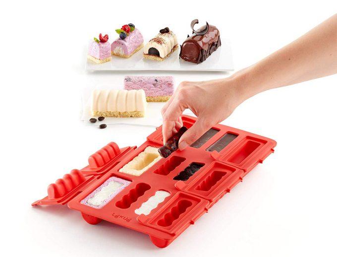 Molde de silicona para hacer pastelitos rellenos