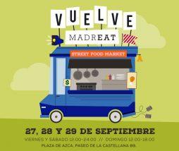 Mercado de comida callejera en Madrid