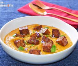 Curry de zanahoria con tempeh